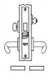 Baldwin<br />G6391 - HOTEL OR MOTEL MORTISE LOCK - ANSI F15 - 2 1/2&quot; BACKSET