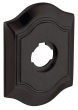 Baldwin<br />R027.402 - 3&quot; BETHPAGE ROSE - DISTRESSED OIL RUBBED BRONZE