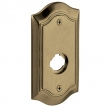Baldwin<br />R028.050 - 5&quot; BETHPAGE ROSE - SATIN BRASS AND BLACK