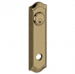 Baldwin<br />R029.050 - 10&quot; BETHPAGE ROSE - ENTRY OR PASSAGE/PRIVACY - SATIN BRASS AND BLACK