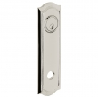 Baldwin<br />R029.055 - 10&quot; BETHPAGE ROSE - ENTRY OR PASSAGE/PRIVACY - LIFETIME POLISHED NICKEL