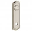Baldwin<br />R029.056 - 10&quot; BETHPAGE ROSE - ENTRY OR PASSAGE/PRIVACY - LIFETIME SATIN NICKEL