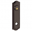 Baldwin<br />R029.112 - 10&quot; BETHPAGE ROSE - ENTRY OR PASSAGE/PRIVACY - VENETIAN BRONZE