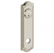 Baldwin<br />R029.150 - 10&quot; BETHPAGE ROSE - ENTRY OR PASSAGE/PRIVACY - SATIN NICKEL