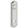 Baldwin<br />R029.264 - 10&quot; BETHPAGE ROSE - ENTRY OR PASSAGE/PRIVACY - SATIN CHROME