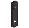 Baldwin<br />R029.402 - 10&quot; BETHPAGE ROSE - ENTRY OR PASSAGE/PRIVACY - DISTRESSED OIL RUBBED BRONZE