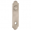 Baldwin<br />R032.056 - 10&quot; ARCHED ROSE - ENTRY OR PASSAGE/PRIVACY - LIFETIME SATIN NICKEL