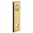 Baldwin<br />R035.031 - 10&quot; RECTANGULAR ROSE - ENTRY OR PASSAGE/PRIVACY - NON-LACQUERED BRASS