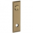 Baldwin<br />R035.050 - 10&quot; RECTANGULAR ROSE - ENTRY OR PASSAGE/PRIVACY - SATIN BRASS &amp; BLACK