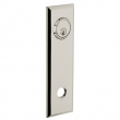 Baldwin<br />R035.055 - 10&quot; RECTANGULAR ROSE - ENTRY OR PASSAGE/PRIVACY - LIFETIME POLISHED NICKEL