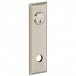 Baldwin<br />R035.056 - 10&quot; RECTANGULAR ROSE - ENTRY OR PASSAGE/PRIVACY - LIFETIME SATIN NICKEL