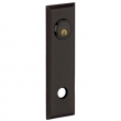 Baldwin<br />R035.102 - 10&quot; RECTANGULAR ROSE - ENTRY OR PASSAGE/PRIVACY - OIL RUBBED BRONZE