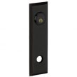 Baldwin<br />R035.190 - 10&quot; RECTANGULAR ROSE - ENTRY OR PASSAGE/PRIVACY - SATIN BLACK