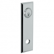 Baldwin<br />R035.260 - 10&quot; RECTANGULAR ROSE - ENTRY OR PASSAGE/PRIVACY - POLISHED CHROME