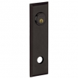Baldwin<br />R035.402 - 10&quot; RECTANGULAR ROSE - ENTRY OR PASSAGE/PRIVACY - DISTRESSED OIL RUBBED BRONZE