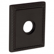 Baldwin<br />R036.402 - 3&quot; SQUARED ROSE W/ROPE - DISTRESSED OIL RUBBED BRONZE