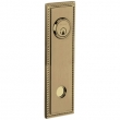 Baldwin<br />R038.050 - 10&quot; RECTANGULAR ROSE W/ROPE - ENTRY OR PASSAGE/PRIVACY - SATIN BRASS &amp; BLACK