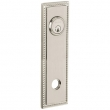 Baldwin<br />R038.056 - 10&quot; RECTANGULAR ROSE W/ROPE - ENTRY OR PASSAGE/PRIVACY - LIFETIME SATIN NICKEL