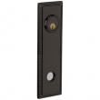 Baldwin<br />R038.102 - 10&quot; RECTANGULAR ROSE W/ROPE - ENTRY OR PASSAGE/PRIVACY - OIL RUBBED BRONZE