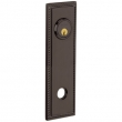 Baldwin<br />R038.112 - 10&quot; RECTANGULAR ROSE W/ROPE - ENTRY OR PASSAGE/PRIVACY - VENETIAN BRONZE