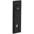 Baldwin<br />R038.190 - 10&quot; RECTANGULAR ROSE W/ROPE - ENTRY OR PASSAGE/PRIVACY - SATIN BLACK
