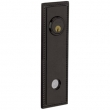Baldwin<br />R038.402 - 10&quot; RECTANGULAR ROSE W/ROPE - ENTRY OR PASSAGE/PRIVACY - DISTRESSED OIL RUBBED BRONZE