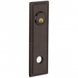 Baldwin<br />R038.412 - 10&quot; RECTANGULAR ROSE W/ROPE - ENTRY OR PASSAGE/PRIVACY - DISTRESSED VENETIAN BRONZE - LACQUER COATED