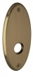 Baldwin<br />R040.050 - 5&quot; OVAL ROSE - SATIN BRASS &amp; BLACK