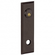 Baldwin<br />R044.412 - 10&quot; RECTANGULAR ROSE - ENTRY OR PASSAGE/PRIVACY - DISTRESSED VENETIAN BRONZE - LACQUER COATED