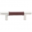 Emtek<br />S86525 - Stainless Steel Leather Bar Pull 8&quot;