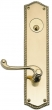 Brass Accents<br />D06-K250 - Trafalgar 2 1/2&quot; x 10 1/2&quot; Plates: Single/Double Deadbolt Set