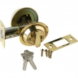 Brass Accents<br />D09-D0050 - Salem 2&quot; Backset Matching Single Cylinder Deadbolt