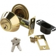 Brass Accents<br />D09-D0060 - Salem 2&quot; Backset Matching Double Cylinder Deadbolt
