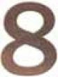 Emtek<br />EMTEK - BRONZE 6&quot; HOUSE NUMBERS