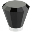 Emtek<br />86546 - Black Brookmont Crystal Knob 1&quot;