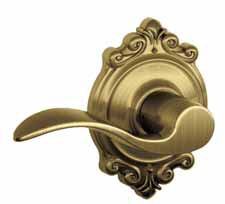 NEW BROOKSHIRE ORNATE ROSE - F SERIES KNOBS AND LEVERS