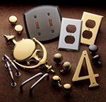 HINGES, KNOCKERS, NUMBERS, BUTTONS, BOLTS, CREMONE, ROLLER CATCH, PULL PLATES, STOPS, & MORE