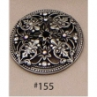 Carpe Diem Cabinet Knobs<br />155 CD - 155 JULIANE GRACE ESCUTCHEON WITH SWAROVSKI CRYSTALS