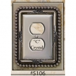 Carpe Diem Cabinet Knobs<br />5106 CD - 5106 CACHE DOUBLE OUTLET COVER WITH SWAROVSKI CRYSTALS