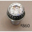Carpe Diem Cabinet Knobs<br />860 CD - 860 CACHE MEDIUM ROUND KNOB WITH SWAROVSKI CRYSTALS