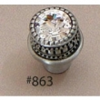 Carpe Diem Cabinet Knobs<br />863 CD - 863 CACHE MEDIUM ROUND KNOB WITH SWAROVSKI CRYSTALS