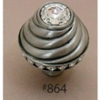 Carpe Diem Cabinet Knobs<br />864 CD - 864 CACHE LARGE ROUND KNOB WITH SWAROVSKI CRYSTALS