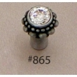 Carpe Diem Cabinet Knobs<br />865 CD - 865 CACHE SMALL ROUND KNOB WITH SWAROVSKI CRYSTALS