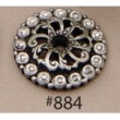 Carpe Diem Cabinet Knobs<br />884 CD - 884 CACHE SMALL ESCUTCHEON WITH SWAROVSKI CRYSTALS