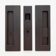 Cavilock<br />CL400B0228 - Cavity Sliders Magnetic Privacy Pocket Door Set, Emerg LH (Left Hand)/Snib RH (Right Hand), Oil Rubbed Bronze, for 1 3/8&quot; Door Thickness