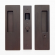 Cavilock<br />CL400C0225 - Cavity Sliders Magnetic Key Locking Pocket Door Set, Blank/Key RH (Right Hand), Oil Rubbed Bronze, for 1 3/8&quot; Door Thickness