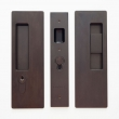 Cavilock<br />CL400C0228 - Cavity Sliders Magnetic Key Locking Pocket Door Set, Key LH (Left Hand)/Snib RH (Right Hand), Oil Rubbed Bronze, for 1 3/8&quot; Door Thickness