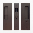 Cavilock<br />CL400C0237 - Cavity Sliders Magnetic Key Locking Pocket Door Set, Snib LH (Left Hand)/Key RH (Right Hand), Oil Rubbed Bronze, for 1 3/4&quot; Door Thickness