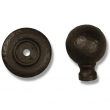 Coastal Bronze<br />80-800 - Round Knob on Plate