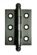 Deltana<br />CH2015 SOLID BRASS CABINET HINGES - 2&quot; x 1.5&quot; DELTANA CABINET HINGE PAIR
